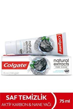 Colgate Natural Extracts Aktif Karbon ve Nane Saf Temizlik Diş Macunu 75 ml 0