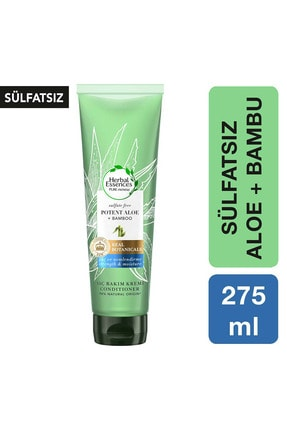 Herbal Essences Sülfatsız Güç Ve Nem Aloe + Bambu Şampuan Saç Bakım Kremi 275 Ml 0