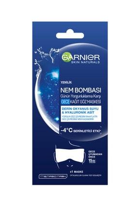 Garnier Nem Bombası Yorgunluklara Karşı Gece Kağıt Göz Maskesi 2