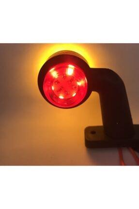 HCD 12 Ledli Mini Takoz Kırmızı- Sarı Yeni Nesil 1