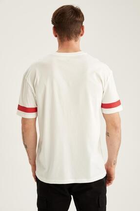 Defacto Oversize Fit Bisiklet Yaka Baskılı Tişört 3