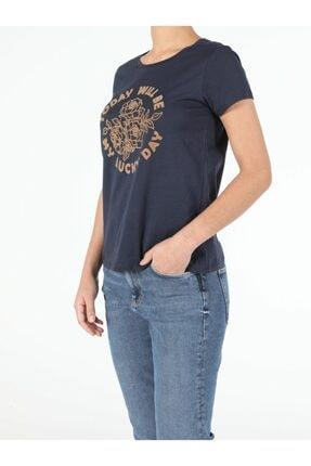 Colin's Kadın Lacivert Kısa Kol  T-Shirt 2