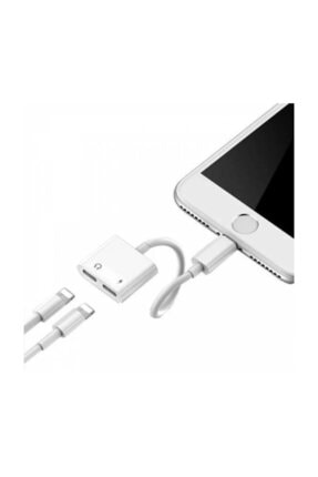 Ally Iphone 7,8 X ,10 Uyumlu Lightning , Kulaklık Ve Şarj Çevirici Dönüştürücü 0