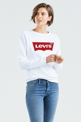 Levi's Kadın Beyaz Sweatshirt 29717-0063 0