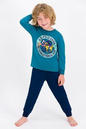 US Polo Assn U.s. Polo Assn Lisanslı Petrol Erkek Çocuk Pijama Takımı 0