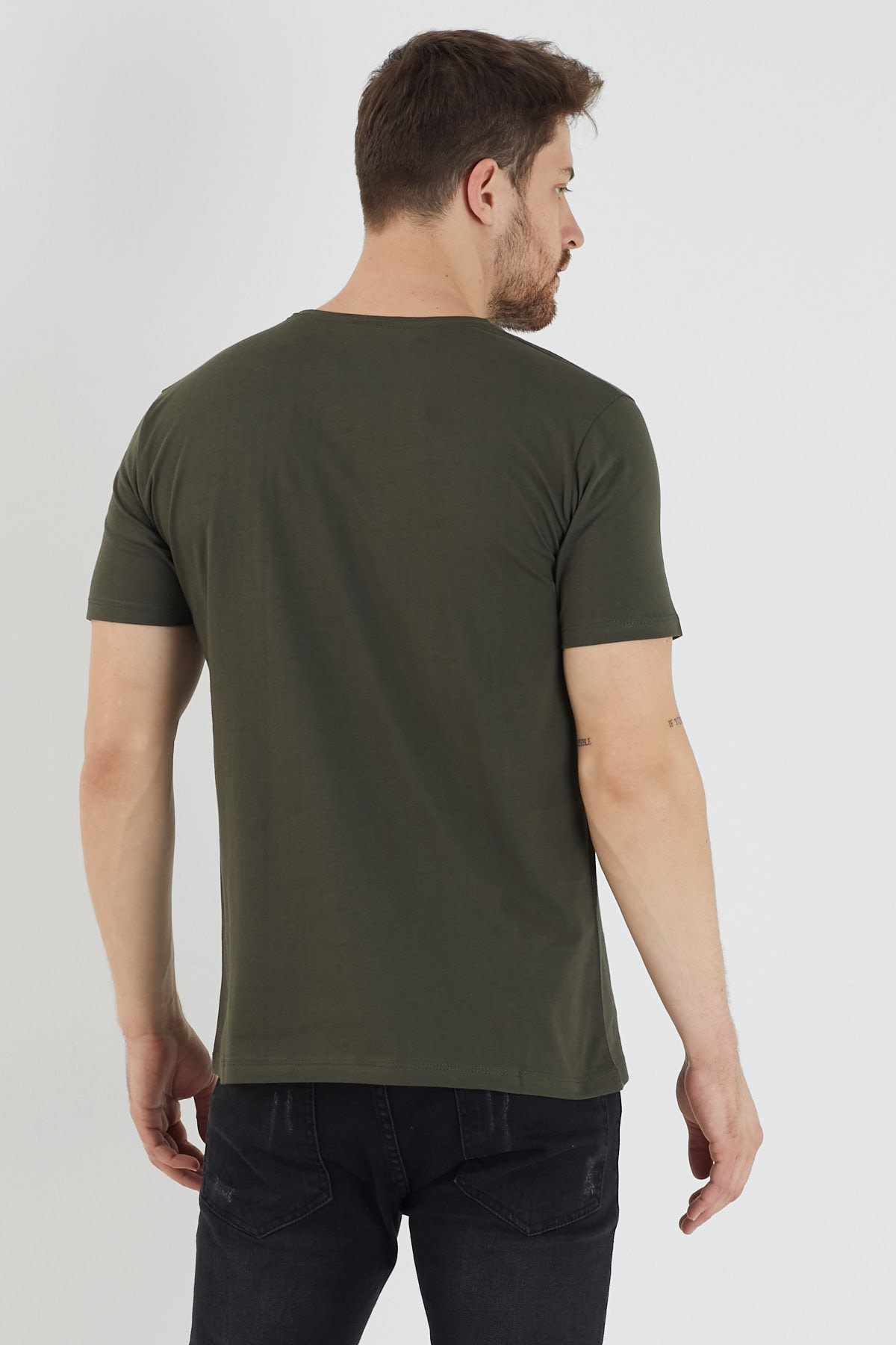 Slazenger SANDER Erkek T-Shirt Haki ST11TE083 3