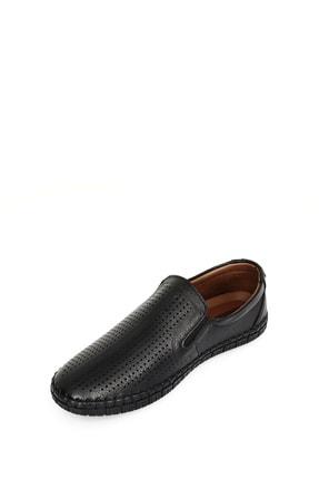 GÖNDERİ(R) Hakiki Deri Siyah Erkek Günlük (Casual) Ayakkabı 01225 4