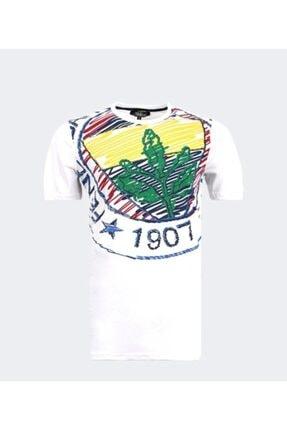 Picture of Erkek Beyaz Büyük Logolu Tshırt