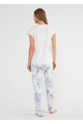 Suwen Kadın Mavi Alice Pijama Takımı 2