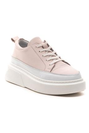 GRADA Pudra Rengi Kalın Tabanlı Hakiki Deri  Sneaker Ayakkabı 2