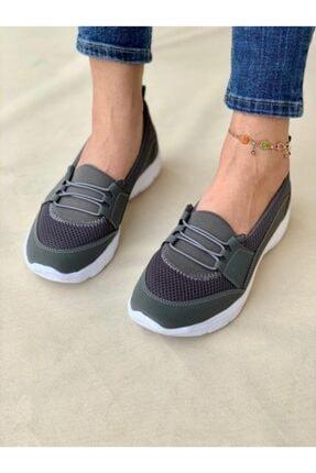 AYŞEM Kadın Gri Ortopedik Günlük Ayakkabı 4