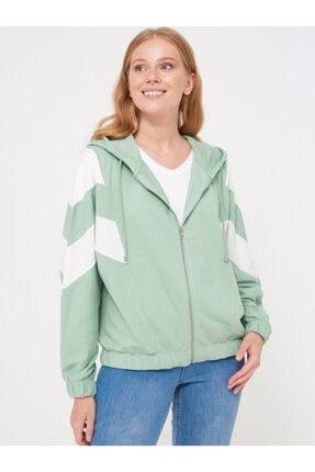 LC Waikiki Kadın Mat Yeşil Sweatshirt 0WCF16Z8 0