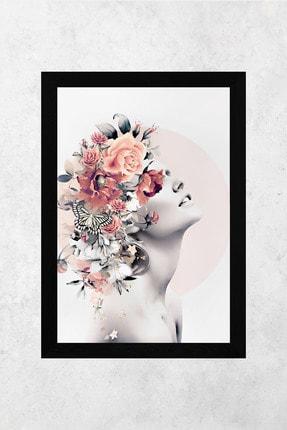 Tontilika Ahşap Çerçeve Görünümlü Kadın Isimli 8mm Dekoratif 3'lü Tablo Seti 1