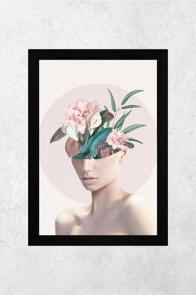Tontilika Ahşap Çerçeve Görünümlü Kadın Isimli 8mm Dekoratif 3'lü Tablo Seti 2
