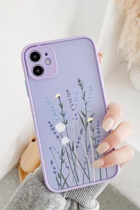 Spoyi Iphone 11 Lila Hux Soft Lavander Tasarımlı Telefon Kılıfı 0