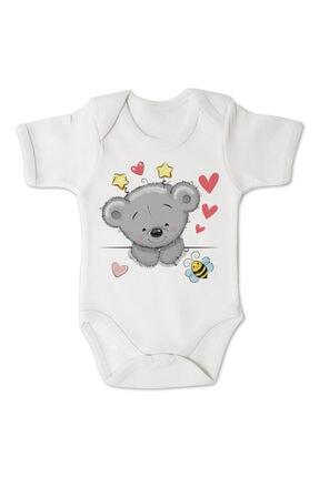 incilibaby Bebek Beyaz Uzun Kollu Tulum Ve Kısa Kollu Body 3