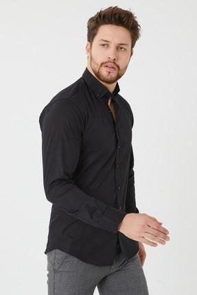 Cosmen Slim Fit Poplin Likralı Erkek Gömlek 1