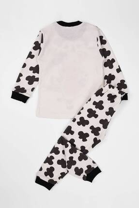 zepkids Unisex Çocuk Bej İnek Baskılı Pijama Takımı 1