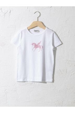 LC Waikiki Kız Çocuk Beyaz Tişört 0
