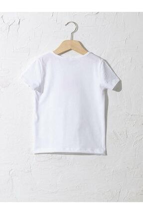 LC Waikiki Kız Çocuk Beyaz Tişört 1