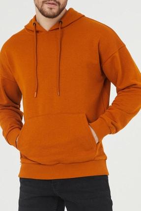 XHAN Turuncu Kanguru Cepli Kapüşonlu Sweatshirt 1kxe8-44398-11 4
