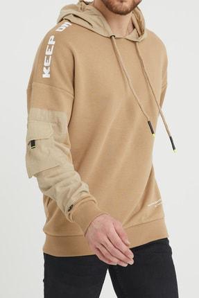 XHAN Bej Cep Detaylı Sweatshirt 1kxe8-44396-25 0
