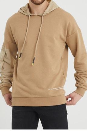 XHAN Bej Cep Detaylı Sweatshirt 1kxe8-44396-25 1