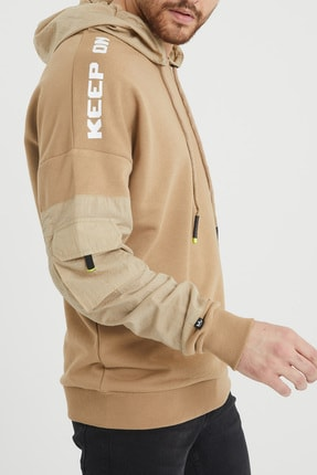 XHAN Bej Cep Detaylı Sweatshirt 1kxe8-44396-25 4