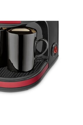 GoldMaster Bi Kahve Kırmızı Çift Kupalı Filtre Kahve Makinesi Filtre Kahve Hediyeli 3
