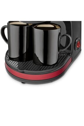 GoldMaster Bi Kahve Kırmızı Çift Kupalı Filtre Kahve Makinesi Filtre Kahve Hediyeli 4