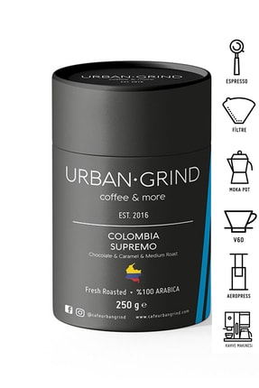 Urban Grind Colombia Ince-orta Öğütülmüş Kahve 250 Gr 0