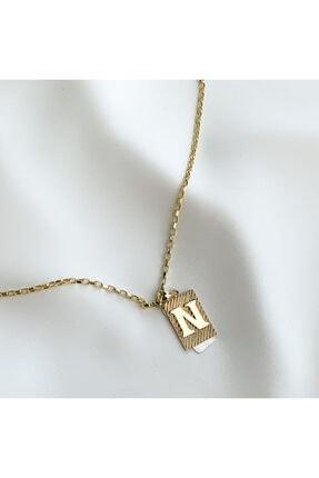 N Harfli Altın Kolye SGKL0011