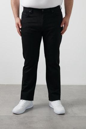 Erkek Siyah Regular Fit Pamuklu Büyük Beden Kot Pantolon 7280n185jeff resmi