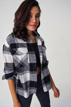 Pattaya Kadın Ekoseli Cepli Oduncu Gömlek Y20w110-4583 1