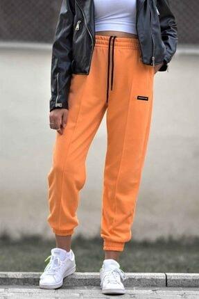 Madmext Kadın Turuncu Neon Jogger Eşofman Mg303 1