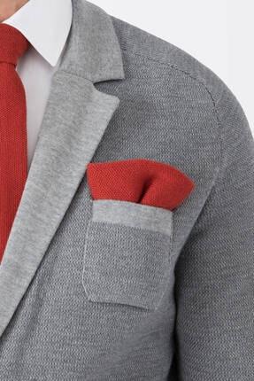 Hemington Erkek Açık Kırmızı Örgü Ceket Mendili 1