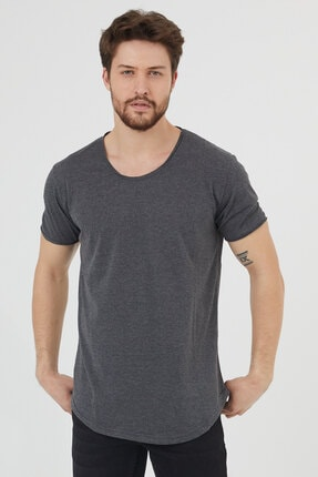 Tarz Cool Erkek Füme Pis Yaka Salaş T-shirt-tcps001r27 2