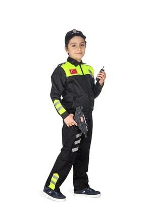 Liyavera Unisex Çocuk Trafik Polisi Kostümü 1
