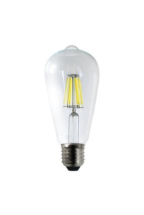 Heka Led Rustik Şeffaf 6 W Beyaz Işık Ampul 6500k 0