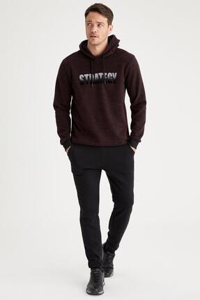 Defacto Strategy Baskılı Regular Fit Kapüşonlu Sweatshirt 1