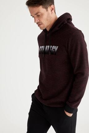 Defacto Strategy Baskılı Regular Fit Kapüşonlu Sweatshirt 2