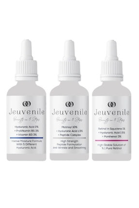 Jeuvenile Anti-age 3'lü Serum Seti - Hyaluronic Acid %2 + Matrixyl %10 + Retinol In Squalene %1 0