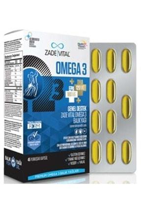 Zade Vital Omega 3 Balık Yağı Premium 45 Kapsül 0