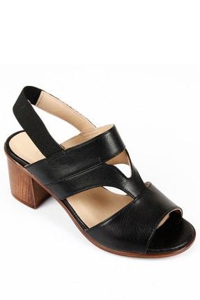 GÖNDERİ(R) Kadın Siyah Hakiki Deri Sandalet 45633 4