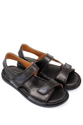 GÖNDERİ(R) Erkek Siyah Hakiki Deri Sandalet 42023 0