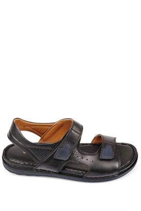 GÖNDERİ(R) Erkek Siyah Hakiki Deri Sandalet 42023 1