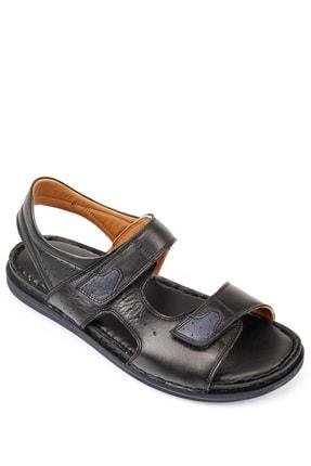 GÖNDERİ(R) Erkek Siyah Hakiki Deri Sandalet 42023 3