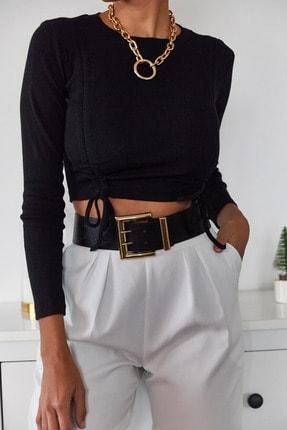 Xena Kadın Siyah Büzgülü Bluz 1KZK2-11036-02 0