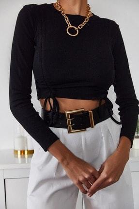Xena Kadın Siyah Büzgülü Bluz 1KZK2-11036-02 3