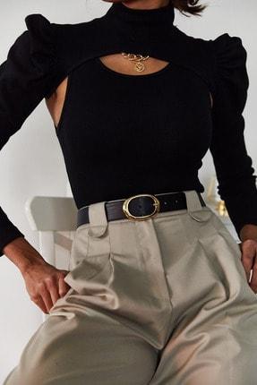 Xena Kadın Siyah İki Parçalı Prenses Kol Bluz 1KZK3-11050-02 1